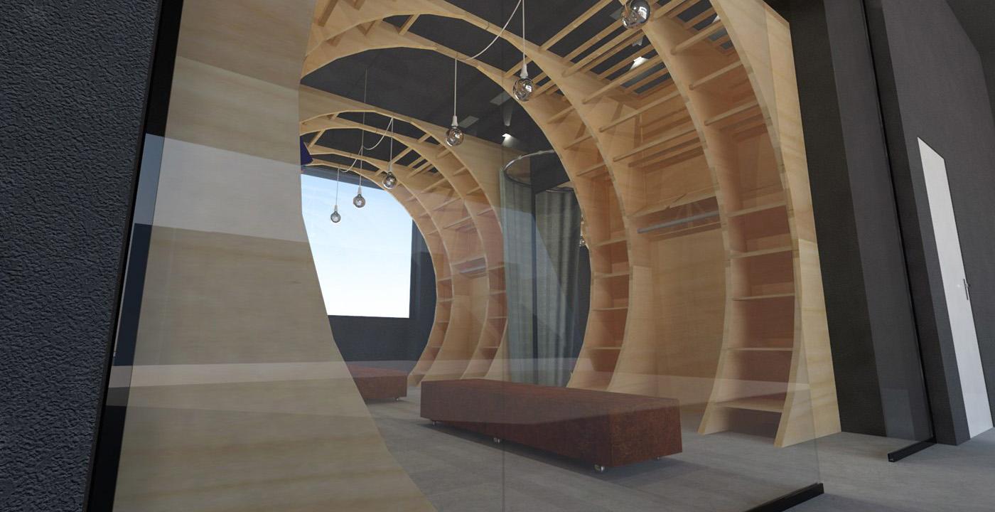 Interieurontwerp Bank15 Showrooming